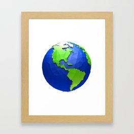 Low poly world- Usa theme Framed Art Print