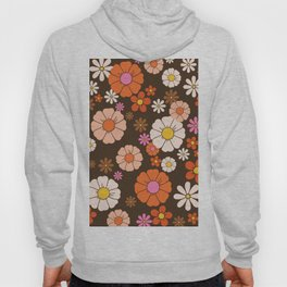 Groovy 60ˋs Mod Flower Print Hoody