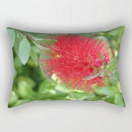Beautiful Bottle Brush Flower With Garden Background Rectangular Pillow