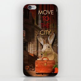 Move to the city iPhone Skin