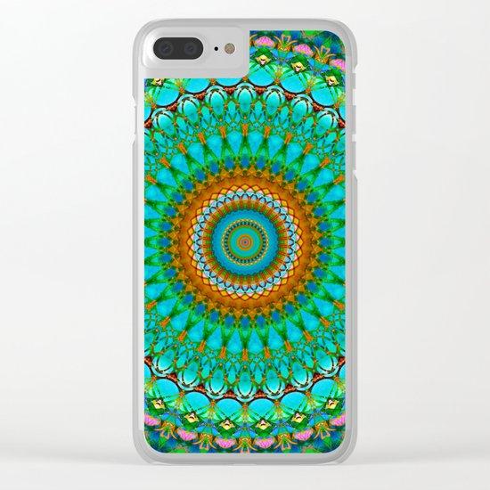 Geometric Mandala G388 Clear iPhone Case