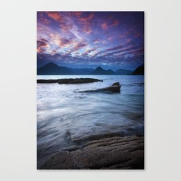 Sunset Over the Cuillin Canvas Print