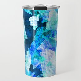 pixilated icicles  Travel Mug