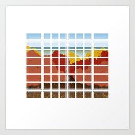 WINDOW 002: THE WOODS Art Print