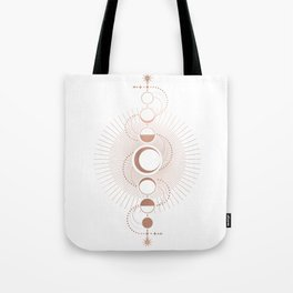 Moon Variations in White Tote Bag