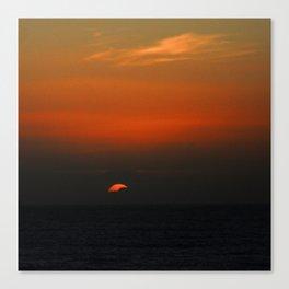 cloudy sunset seascape Canvas Print