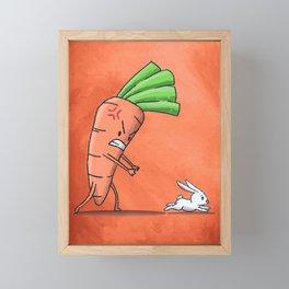 Running Bunny Rabbit Framed Mini Art Print
