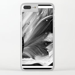 Butterfly black and white Clear iPhone Case
