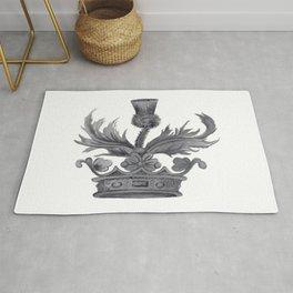 Watercolor Outlander Crown & Thistle Rug