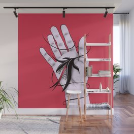 Disturbing Itch - Evil Monster Bites Hand Wall Mural