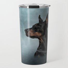 Drawing Doberman dog  6 Travel Mug