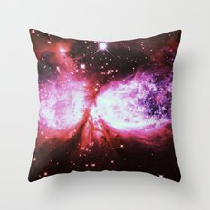 A Star is born Burgundy Lavender Throw Pillow
