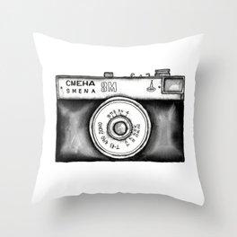 Lomo Smena 8M Russian Camera Throw Pillow