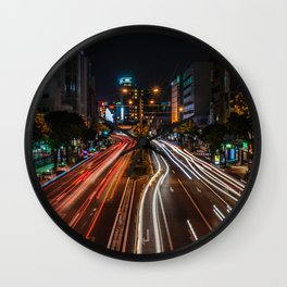 Naha Traffic in Color Wall Clock