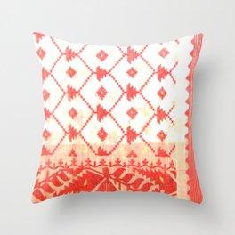 My mother's sari Throw Pillow