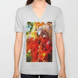 Apricot Resin Abstract Unisex V-Neck