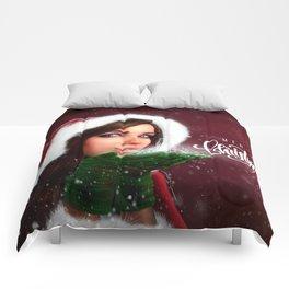Lady Christmas Comforters