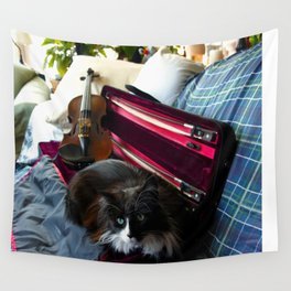 The Cat and the Fiddle (Gracie Queen of Chicago Collection) Wall Tapestry