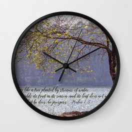 Psalm 1:3 Wall Clock
