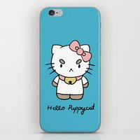 puppycat iPhone & iPod Skins featuring Hello Puppycat by Nate Galbraith