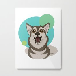 Husky Love Metal Print