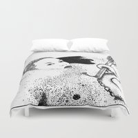 apollonia Duvet Covers featuring asc 618 - Le dieu domestique (Could you hand me the brush please?) by From Apollonia with Love