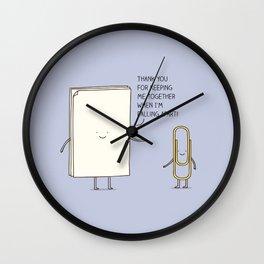 thankful Wall Clock