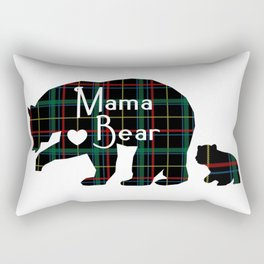 Mama bear one cub Rectangular Pillow