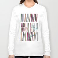 swimming Long Sleeve T-shirts featuring Swimming by Lidia Ganhito