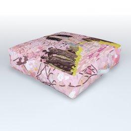 Cherry Blossom Park Dream Guy Outdoor Floor Cushion