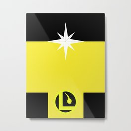 Minimalist Legion of Super-Heroes Poster - Dawnstar Metal Print