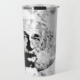 Albert Einstein - schwarz-weiß Travel Mug