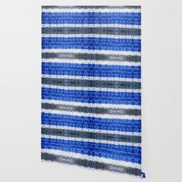 tie dye ancient resist-dyeing techniques Indigo blue grey lilac textile Wallpaper