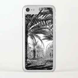 Vintage Palms Trees : Coachela Valley California 1937 Clear iPhone Case