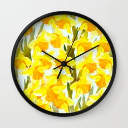 Spring Breeze With Yellow Flowers #decor #society6 #buyart Wall Clock