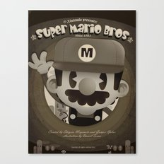 Mario Bros Fan Art Canvas Print
