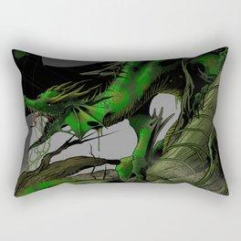 Dungeons, Dice and Dragons, Green Dragon Rectangular Pillow