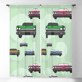 Vintage Route 66 colorful cars Blackout Curtain