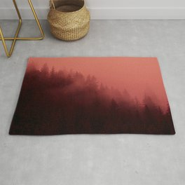 0366 Chocolate Forest with Living_Coral Fog, AK Rug