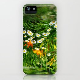 Upside Down Daisies iPhone Case