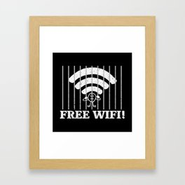 Free Wifi - Funny Internet Quotes Gift Framed Art Print