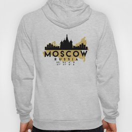 MOSCOW RUSSIA SILHOUETTE SKYLINE MAP ART Hoody