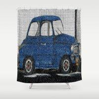 cuba Shower Curtains featuring Cuba Car by Sartoris ART