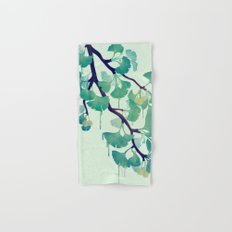 O Ginkgo (in Green) Hand & Bath Towel