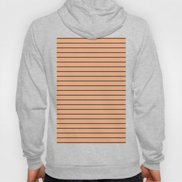 Thin Black Lines On Peach Hoody
