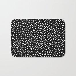 Black and White Polka Dot Pattern Bath Mat