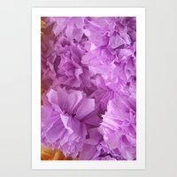 Crepe flower pink Art Print