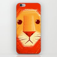 lion iPhone & iPod Skins featuring Sad lion by Lime