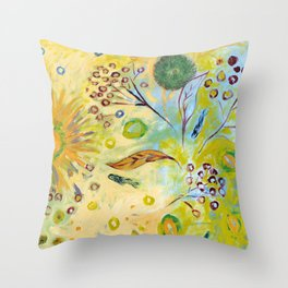 Immersed in Shallow Waters Throw Pillow