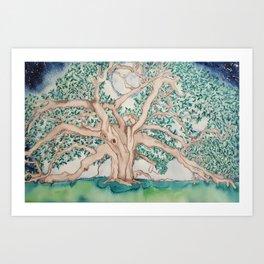 Grand Oak Tree Art Print